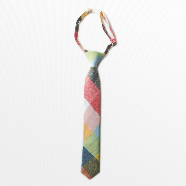Rubik Cube Plaid Boys Tie