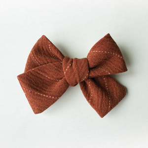 Rusty Stripe Hair Bow for Girls