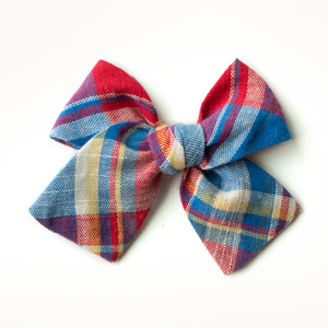 Scout Plaid Hair Bow for Girls