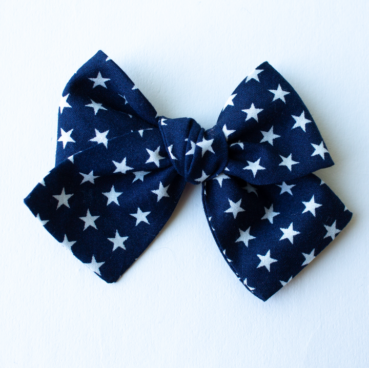 Star Spangler Hair Bow for Girls
