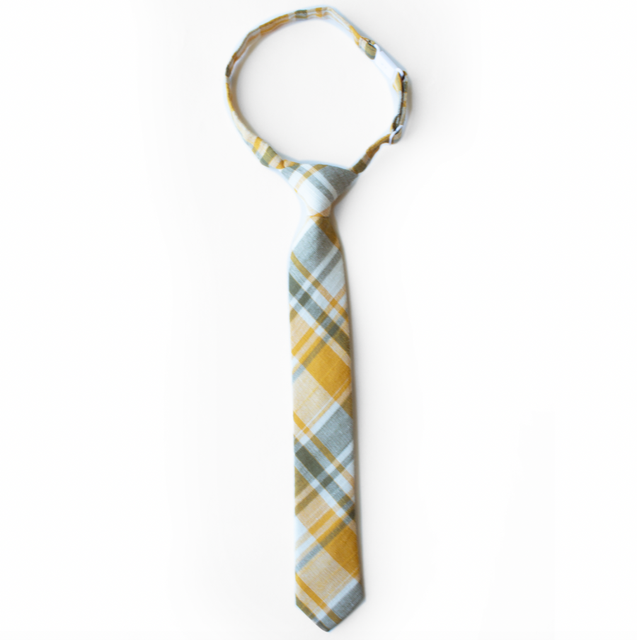 Mayflower Plaid Boys Tie