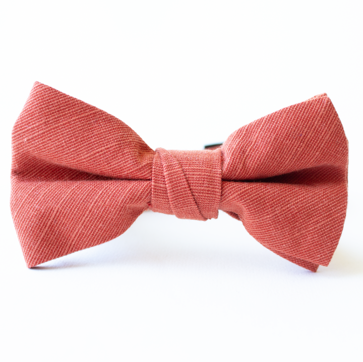 Spiced Linen Bow Tie for Boys