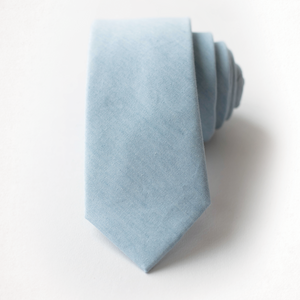 Sky Blue Chambray Men's Tie