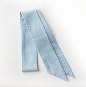 Sky Blue Chambray Everything Bow for Girls & Women - Neck scarf & Hair wrap