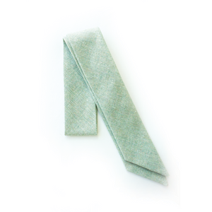 Sea Foam Linen Everything Bow for Girls & Women - Neck scarf & Hair wrap