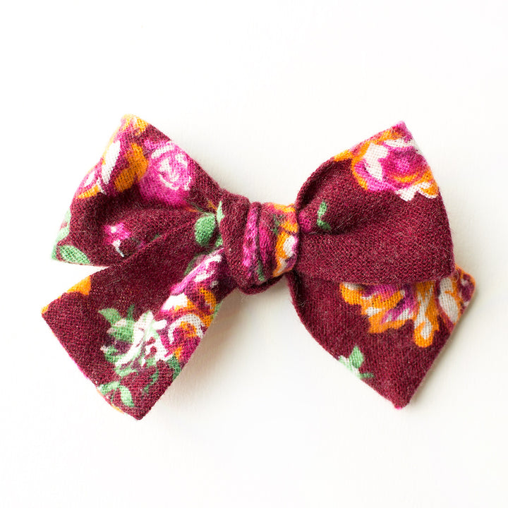 Last Chance Clearance-Serenata Floral Hair Bow for Girls