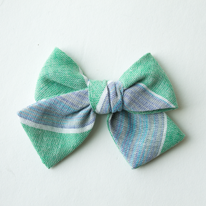 Shamrock Stripe Hair Bow for Girls