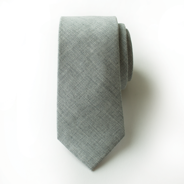 Slate Gray Men's Tie