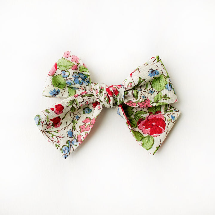 Spring Floral Hair Bow for Girls