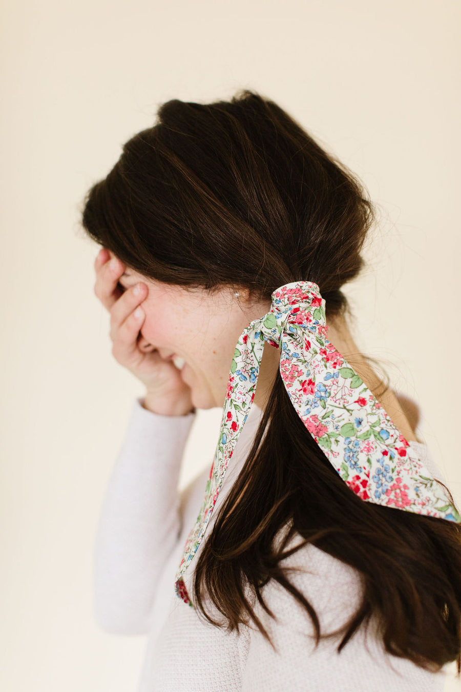 Spring Floral Everything Bow for Girls & Women - Neck scarf & Hair wrap