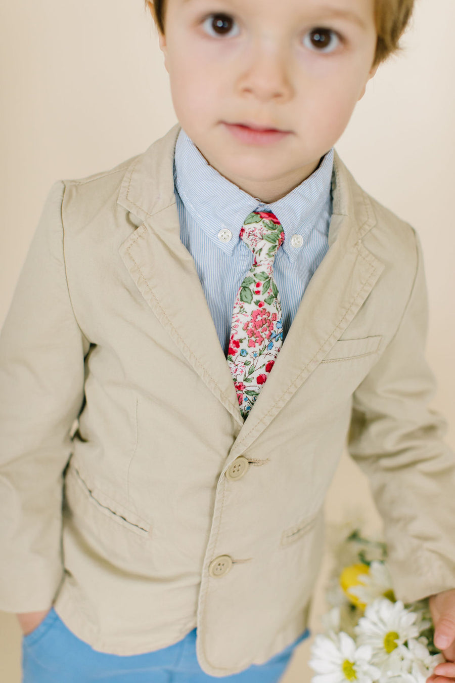 Last Chance Clearance - Spring Floral Boys Tie