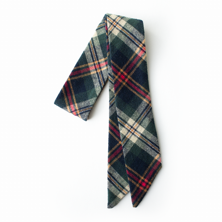 Spruce Plaid Everything Bow for Girls & Women - Neck scarf & Hair wrap