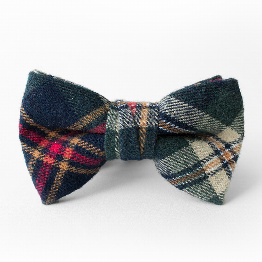 Spruce Plaid Bow Tie for Boys