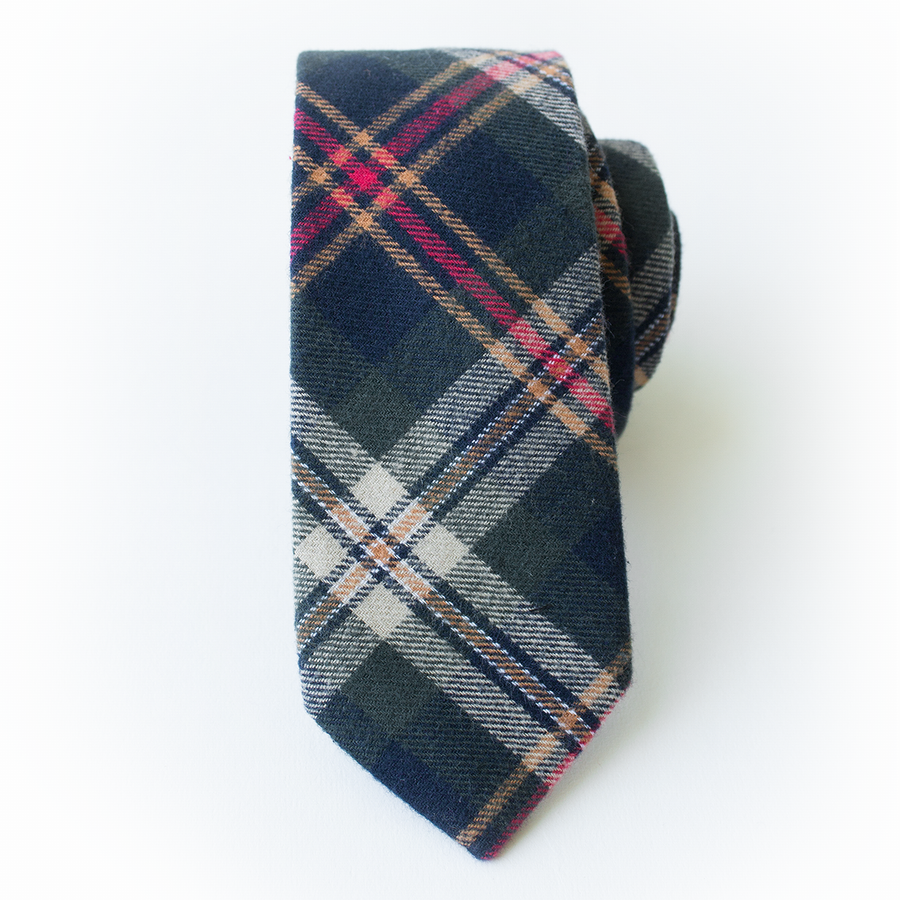Last Chance Clearance-Spruce Plaid Men's Tie