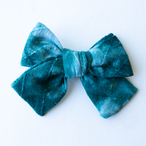 Stoked Tie Dye Hair Bow for Girls