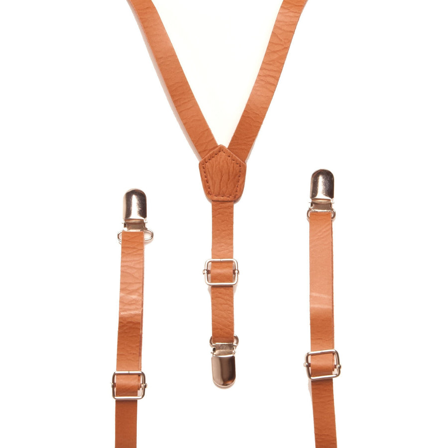 leather suspenders for boys, toddlers, and men