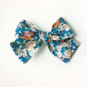 Windsurfer Beach Floral Hair Bow for Girls