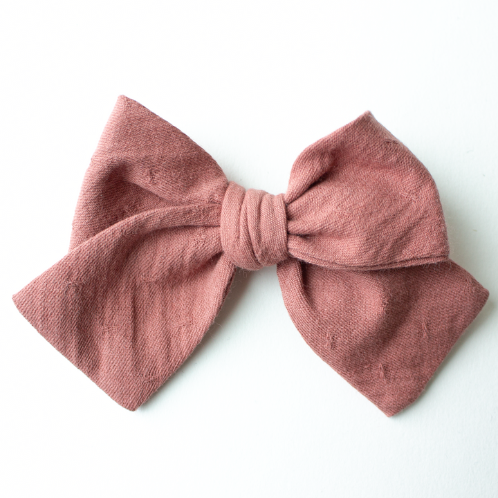 Dusty Mauve Hair Bow for Girls