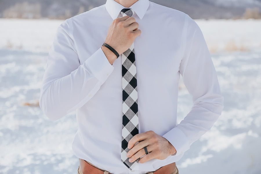 Franklin Plaid Boys Tie