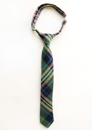 Evergreen Plaid Boys Tie