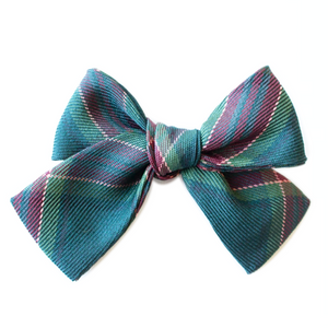 Evergreen Plaid Hair Bow for Girls