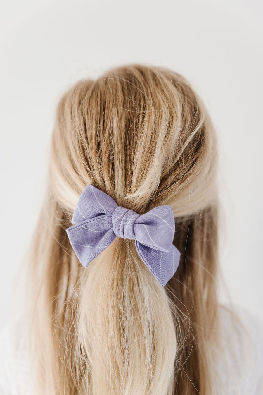 Lilac Stripe Hair Bow for Girls