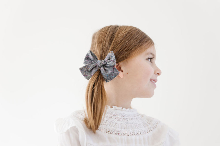 Park City Plaid Hair Bow for Girls