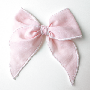 Pink Dot Hair Bow for Girls - Large