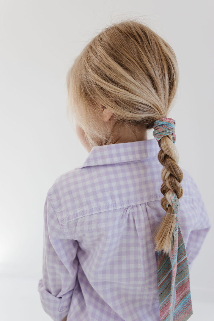 Rainbow Trout Stripe Everything Bow for Girls & Women - Neck scarf & Hair wrap