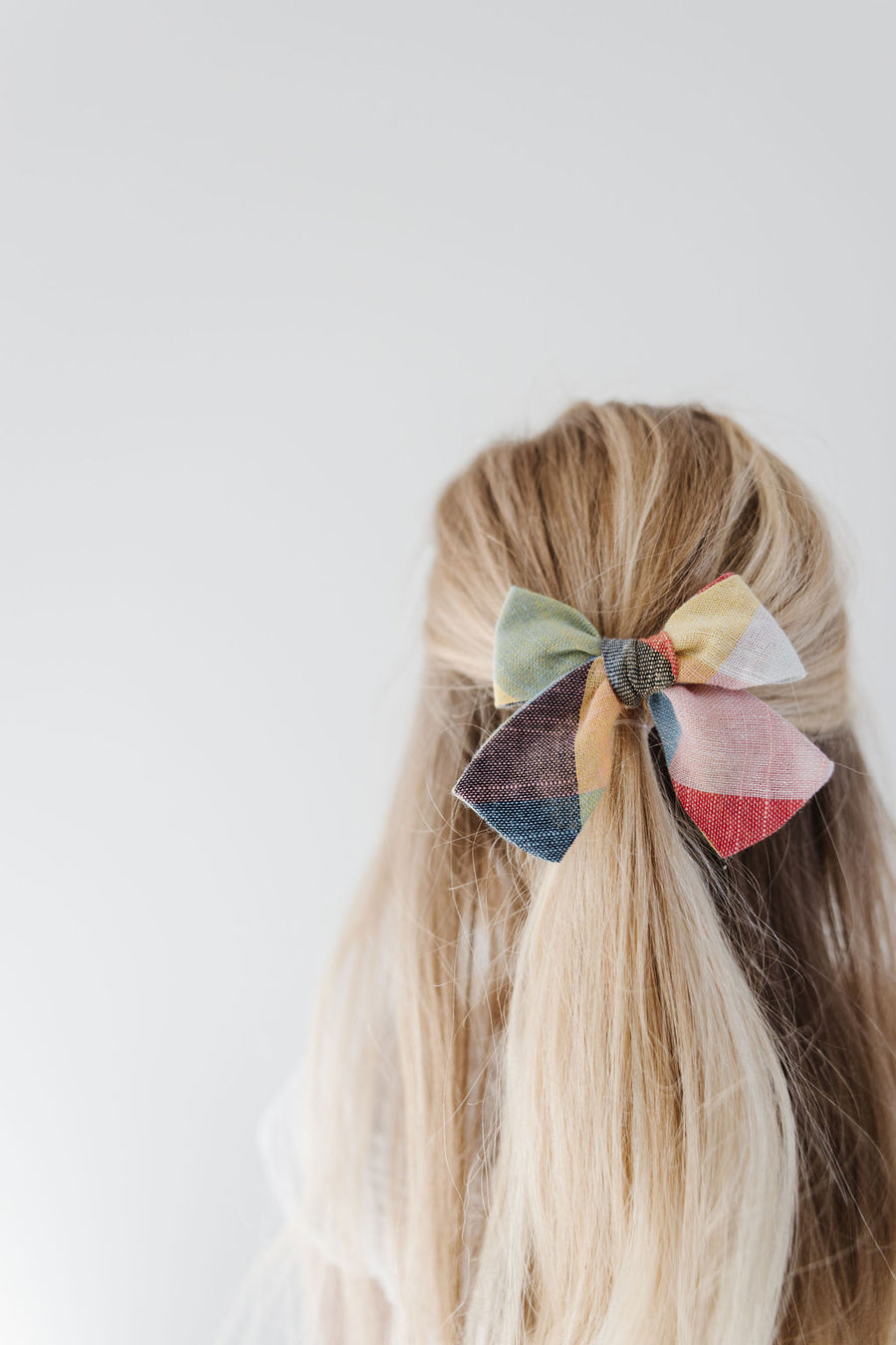 Rubik Cube Plaid Hair Bow for Girls