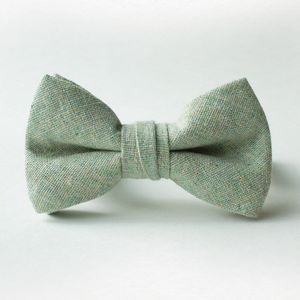 Sea Foam Linen Bow Tie for Boys