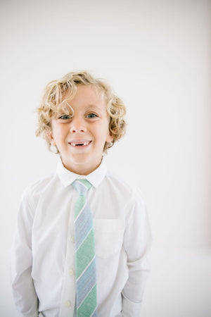 Last Chance Clearance - Shamrock Stripe Boys Tie