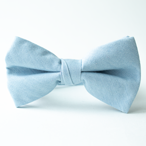 Sky Blue Chambray Bow Tie for Boys