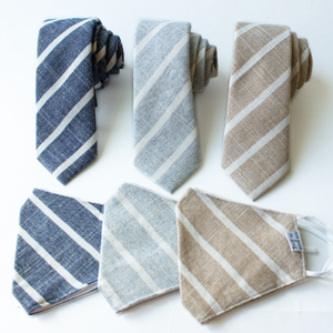 Cloudy Stripe Men's Tie