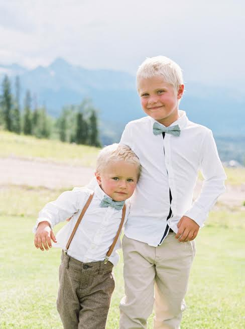 tan leather suspenders for boys