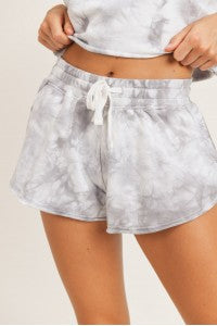 Tie Dye Cotton Terry Shorts