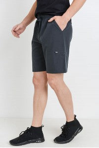 Mens Active shorts with zippered pocket - Black