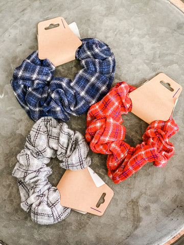 Plaid Flannel Scrunchies