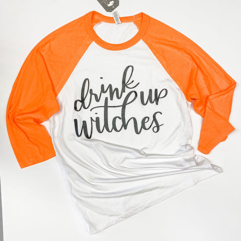 Drink Up Witches Raglan