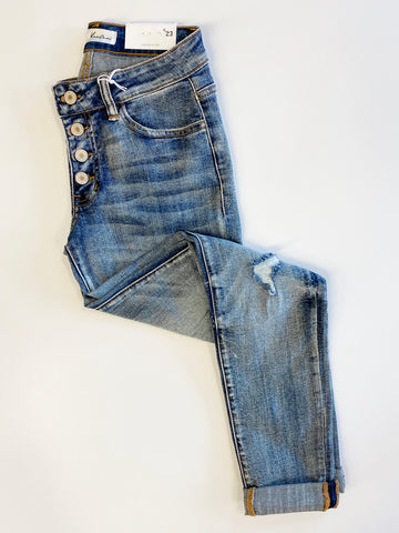 Mid Rise Girlfriend Fit KanCan Jeans