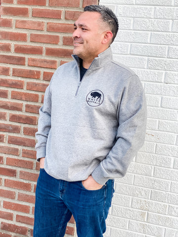 White Buffalo Quarter Zip Sweatshirt