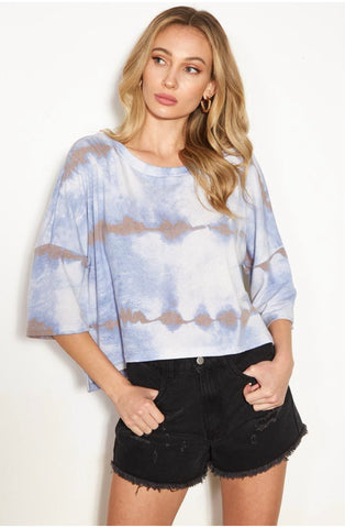 Tye-Die Dolman Sleeve Crop Top