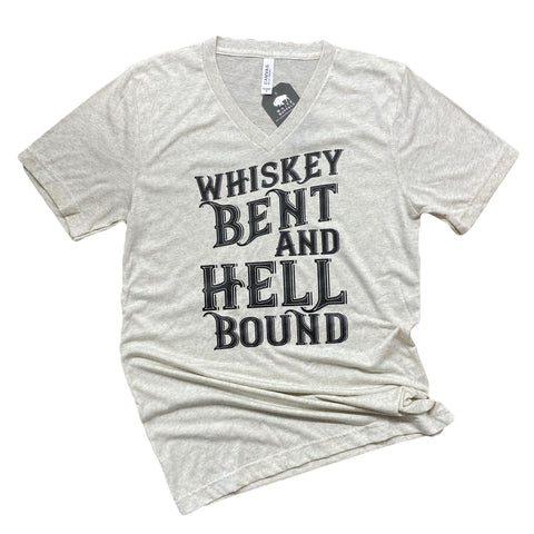 Whiskey Bent V_Neck Tee