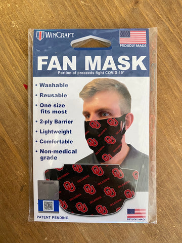 Sooner Washable, Reusable Fashion Face Covering