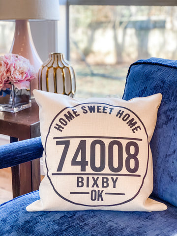 Custom Zip Code Pillow Cover