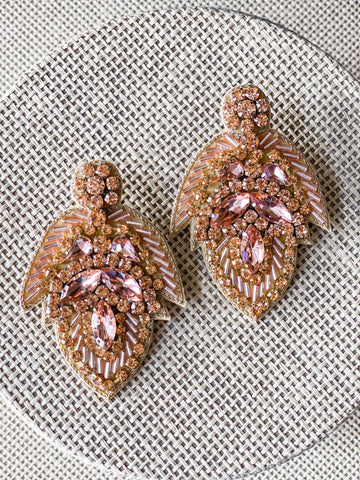 Rose gold Beaded Earrings