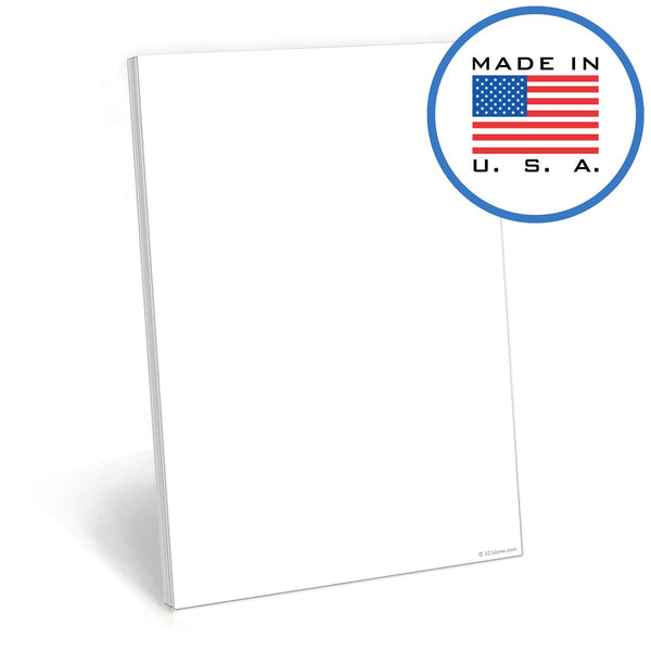 321Done 50 Sheet Blank Note Pad (5.5 x 8.5 Inches) - Writing Notepad - Thick Premium Paper - Made in USA - White - Blue Aspen Studio