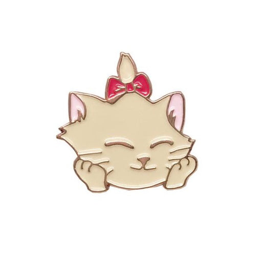 Happy kitten pin