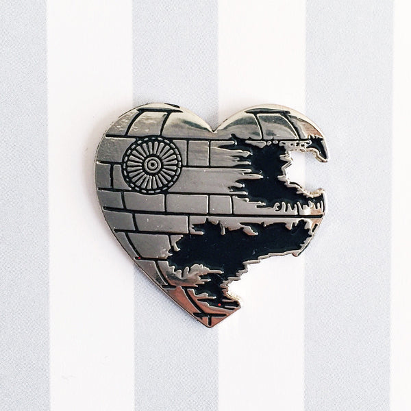 Love is a battle station pin