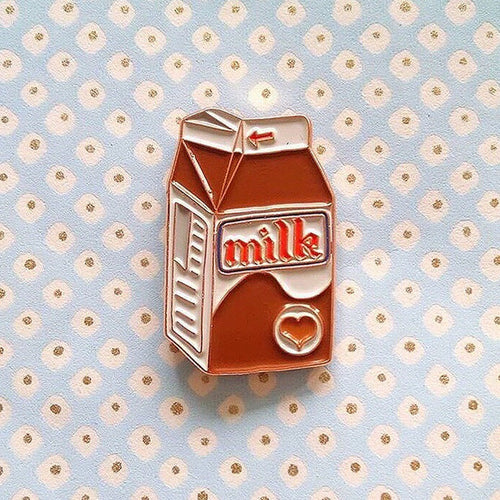 Chocolate milk pin